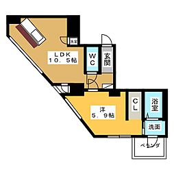 SK BUILDING−501[3階]の間取り