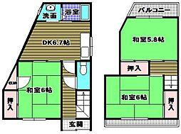 [テラスハウス] 大阪府堺市東区丈六 の賃貸【/】の間取り