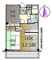 静岡県御殿場市北久原の賃貸マンションの間取り