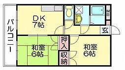 リックリベーラコート[4階]の間取り
