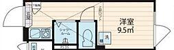 NORTH HILL Shinjuku A 2階ワンルームの間取り