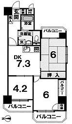シャレー山科[701号室号室]の間取り