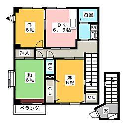 ハイステージ五反田 A棟[2階]の間取り