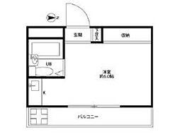 クリーンライトマンション[2階]の間取り