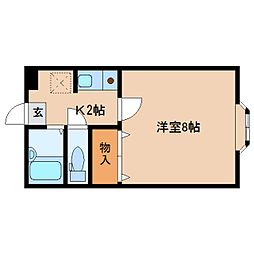 奈良県橿原市西池尻町の賃貸アパートの間取り