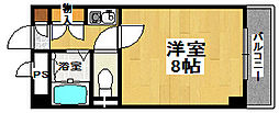 フォンティーヌ堺[6階]の間取り