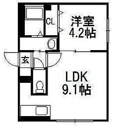 豊平公園駅 4.5万円