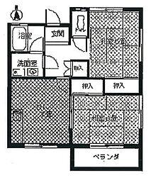 ブルックハウス A棟[1階]の間取り