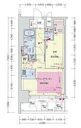 プレサンス立売堀アーバンスタイル[8階]の間取り