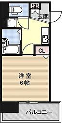 エステムコート京都烏丸[303号室号室]の間取り