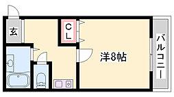 JR加古川線 社町駅 バス18分 依藤野下車 徒歩4分の賃貸マンション 3階1DKの間取り