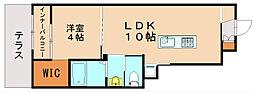 リオーネ博多[1階]の間取り