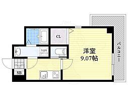 Osaka Metro御堂筋線 江坂駅 徒歩9分の賃貸マンション 8階1Kの間取り