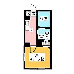 ブライトアンジュ[1階]の間取り