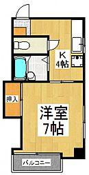 武蔵第一ビル[4階]の間取り