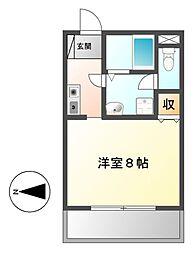 オータムライトII[3階]の間取り