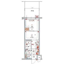 JR南武線 向河原駅 徒歩6分の賃貸マンション 1階1DKの間取り