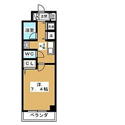 AKATSUKIII[6階]の間取り