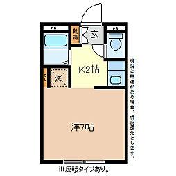 レジデンスKURASAWA[3階]の間取り