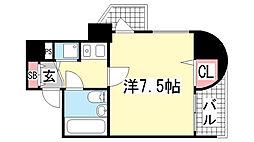ニューブ神戸[10階]の間取り