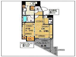 ルミナス桜坂[703号室]の間取り