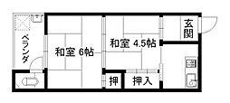 わか葉荘[2階]の間取り