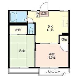 八幡タウンA[2階]の間取り
