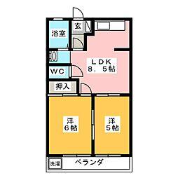 エポックハイムけんせい B[2階]の間取り