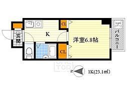 ベルビューレ江坂弐番館[9階]の間取り
