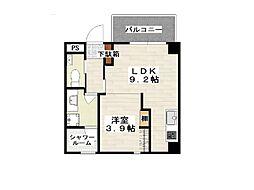 沖縄都市モノレール 小禄駅 徒歩10分の賃貸マンション 6階1LDKの間取り