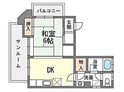 家具・家電付きマルシンビル G[7階]の間取り