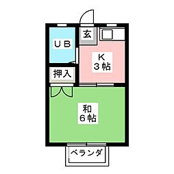 大谷ハイツ[2階]の間取り