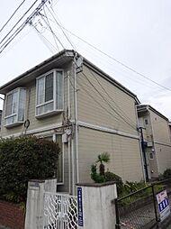東京都北区上中里2の賃貸アパートの外観