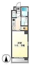 HIBINO RISE[5階]の間取り