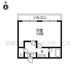 パレステート日生熊野501[5階]の間取り