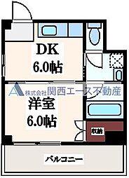 新礒田マンション[1階]の間取り