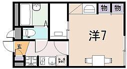 大阪府八尾市西久宝寺の賃貸アパートの間取り