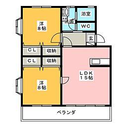 トルナーレKII[1階]の間取り