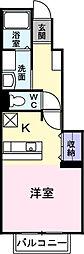 ブライト[1階]の間取り