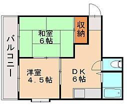 福岡県福岡市博多区東那珂1丁目の賃貸マンションの間取り