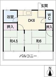 メゾン仲田[2階]の間取り