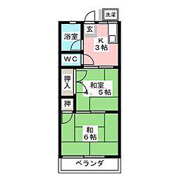 シティハイムシャトル[2階]の間取り