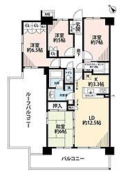 ゲートガーデンズ東松戸 アリーナテラス[4階]の間取り