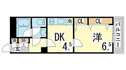 兵庫県神戸市須磨区若木町1丁目の賃貸マンションの間取り