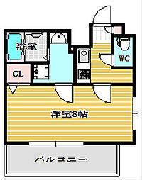ポルト・ボヌール南堀江ミラージュ[10階]の間取り