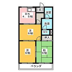 メゾンエクセルII[3階]の間取り