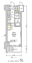 東京メトロ南北線 麻布十番駅 徒歩7分の賃貸マンション 6階1Kの間取り