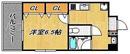 リバティシティ天神[6階]の間取り