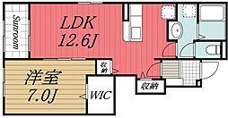 小湊鉄道 海士有木駅 徒歩7分の賃貸アパート 1階1LDKの間取り