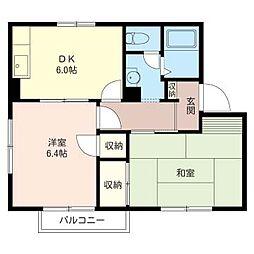 グリーン ハウス A[2階]の間取り